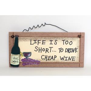 英国製 木製 サインプレート マグネット付き ワイン Fine Wine|ryoshindoshop