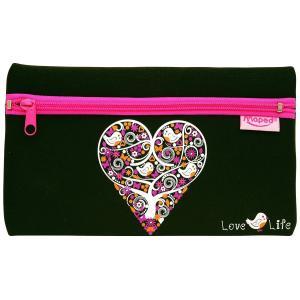 Helix へリックス ペンケース ラブライフ ハート 小鳥 Love Life Pencil Case 933119 筆箱 小物入れ ポーチ イギリス 海外文房具|ryoshindoshop