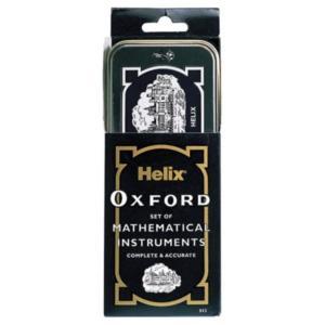 Helix Oxford へリックス・オックスフォード マスセット 文具10点セット レトロ缶入り Oxford Maths Set B43000 イギリス人気 海外文房具|ryoshindoshop