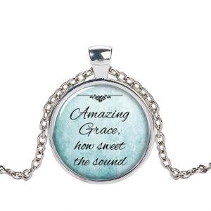 クリスチャンジュエリー 讃美歌 ネックレス ペンダント Amazing Grace アメイジンググレイス おどろくばかりの シルバー ゴールド ブラック|ryoshindoshop