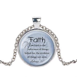 クリスチャンジュエリー 聖書 みことば ネックレス ペンダント Faith へブル11:1 シルバー ゴールド ブラック 信仰|ryoshindoshop