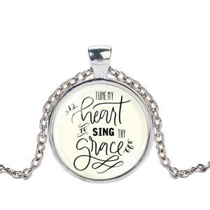 クリスチャンジュエリー 讃美歌 ネックレス ペンダント Tune my Heart 命の泉 シルバー ゴールド ブラック|ryoshindoshop
