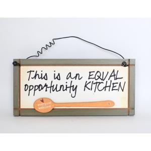 英国製 木製 サインプレート マグネット付き キッチン Equal Opportunity Kitchen|ryoshindoshop