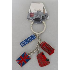 ロンドン メタル キーリング キーホルダー ロンドンバス・電話ボックス・ユニオンジャック・LONDON 英国輸入雑貨 イギリス人気|ryoshindoshop