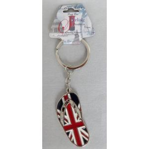 ロンドン メタル キーリング キーホルダー ユニオンジャック ビーチサンダル 英国輸入雑貨 イギリス人気|ryoshindoshop