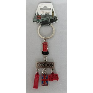 ロンドン メタル キーリング キーホルダー ロンドンバス・ユニオンジャック・電話ボックス・郵便ポスト・LONDON 英国輸入雑貨 イギリス人気|ryoshindoshop