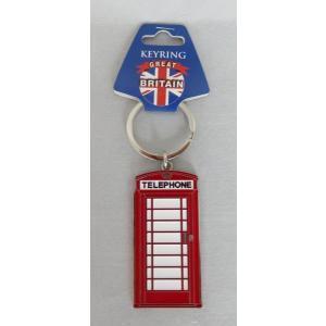 ロンドン メタル キーリング キーホルダー 電話ボックス 英国輸入雑貨 イギリス人気|ryoshindoshop
