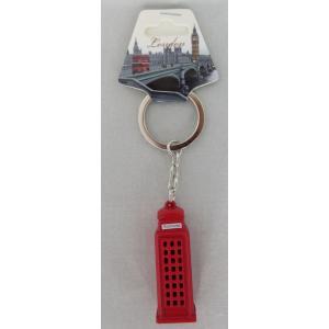 ロンドン メタル キーリング キーホルダー 電話ボックス 立体 英国輸入雑貨 イギリス人気|ryoshindoshop