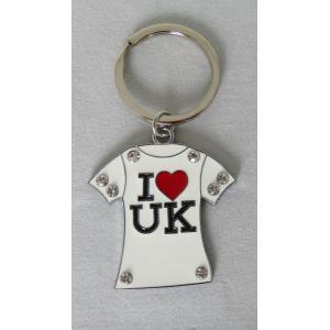 ロンドン メタル キーリング キーホルダー Tシャツ I LOVE UK ハート 英国輸入雑貨 イギリス人気 ryoshindoshop