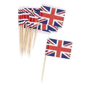 英国旗 ユニオンジャック スティック 20本 楊枝 ミニサイズ Union Jack Flag Picks パーティー カップケーキ デコレーション|ryoshindoshop