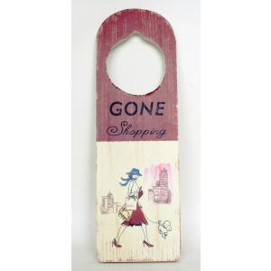 La Finesse 木製 ドアサインプレート Gone Shopping お買い物|ryoshindoshop
