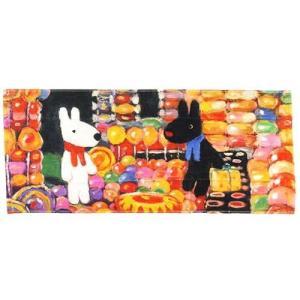 リサとガスパール インクジェット ロングタオル キャンディーパラダイス フェイスタオル フランス人気キャラクター|ryoshindoshop