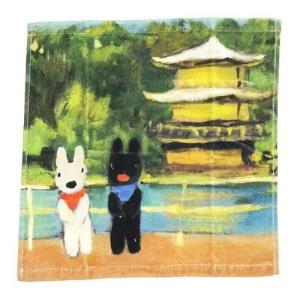 リサとガスパール インクジェット ウォッシュタオル いってまいります 日本柄 ハンドタオル フランス人気キャラクター|ryoshindoshop