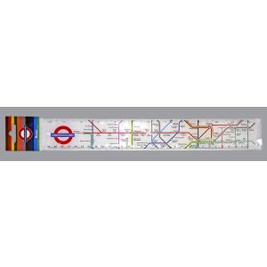 ロンドン地下鉄地図 インチ・センチ表示 定規 30cm/12in London Underground Map Ruler ルーラー ものさし イギリス 海外文房具|ryoshindoshop