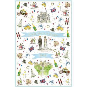 Milly Green ロイヤルウェディング ティータオル ハリー王子 メーガン・マークル ご成婚記念 ミリーグリーン 英国製|ryoshindoshop