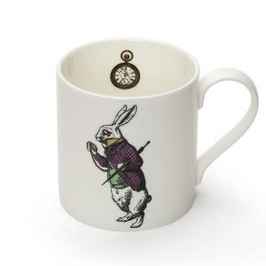 Mrs Moore 不思議の国のアリス 白うさぎ マグカップ 英国製陶磁器 Alice in Wonderland White Rabbit Mug 英国輸入雑貨|ryoshindoshop
