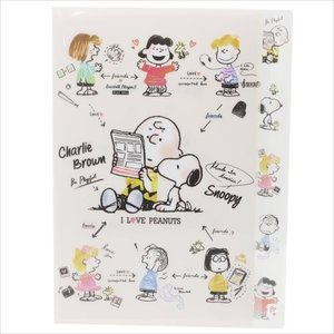 PEANUTS スヌーピー ダイカット5インデックス A4クリアファイル MY FRIENDS 07652 チャーリーブラウン ルーシー ライナス ピーナッツ キャラクター文房具|ryoshindoshop