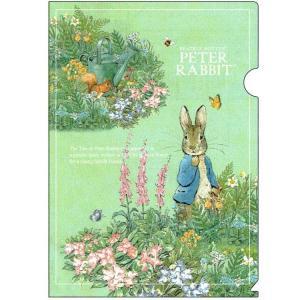 ピーターラビット A4ファイル garden 187310 ED025-17 Peter Rabbit クリアファイル キャラクター文房具 Beatrix Potter|ryoshindoshop