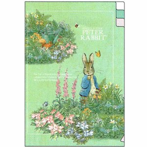 ピーターラビット A6ポケットファイル garden 187273 ED025-13 Peter Rabbit クリアファイル キャラクター文房具 Beatrix Potter|ryoshindoshop