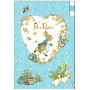 ピーターラビット A6ポケットファイル heart 187297 ED025-15 Peter Rabbit クリアファイル キャラクター文房具 Beatrix Potter|ryoshindoshop