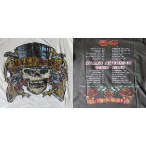 ヴィンテージ風 ロックTシャツ Guns N' Roses ガンズ アンド ローゼズ North American Tour 1989 UK Rock 英国 イギリス|ryoshindoshop