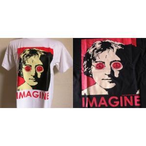ロックTシャツ John Lennon ジョン レノン IMAGINE UK Rock 英国 イギリス UKロック The Beatles ザ ビートルズ|ryoshindoshop