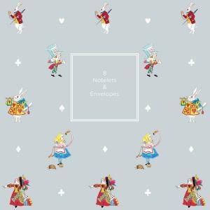 Sophie Allport 不思議の国のアリス カード・封筒セット 8セット紙ケース入り 英国 ソフィー・オールポート Alice in Wonderland Notelet Wallet|ryoshindoshop