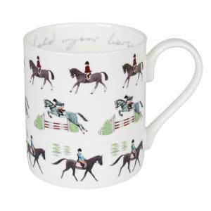 Sophie Allport 馬柄 乗馬 マグカップ 英国 ソフィー・オールポート BMHO01 Hold Your Horses Mug ギフトボックス入り|ryoshindoshop