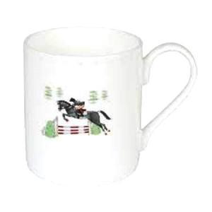 Sophie Allport 馬柄 乗馬 ソロ マグカップ 英国 ソフィー・オールポート BMHO03 Jumping Horses Solo Mug 箱入り|ryoshindoshop
