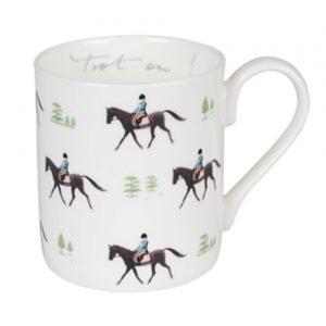 Sophie Allport 馬柄 乗馬 トロット マグカップ 英国 ソフィー・オールポート BMHO02 Trot On! Horses Mug ギフトボックス入り|ryoshindoshop