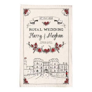Victoria Eggs ロイヤルウェディング ティータオル ハリー王子 メーガン・マークル ご成婚記念 Royal Wedding ヴィクトリア・エッグス 英国製 英国王室|ryoshindoshop