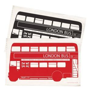 Victoria Eggs ロンドンバス ティータオル London Bus Tea Towel ヴィクトリア・エッグス ルートマスター 英国輸入雑貨 イギリス キッチンクロス ふきん|ryoshindoshop