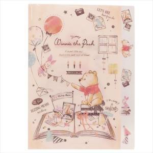 くまのプーさん 5インデックスA4クリアファイル BOOK 07704 5ポケット ディズニー Winnie the Pooh キャラクター文房具|ryoshindoshop