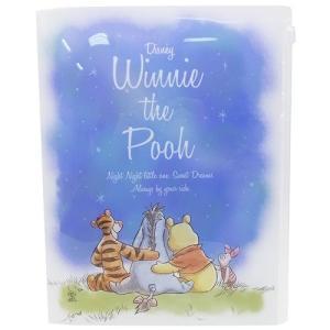 くまのプーさん ジップファスナー付 6ポケット A4クリアファイル 夜空 86105 ディズニー Winnie the Pooh キャラクター文房具 ryoshindoshop