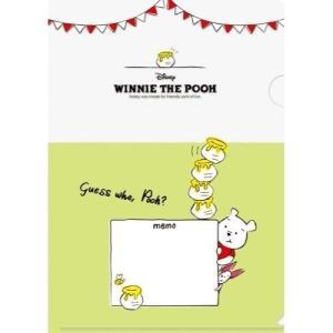 くまのプーさん 書けるクリアファイル CF-007 ディズニー Winnie the Pooh キャラクター文房具|ryoshindoshop