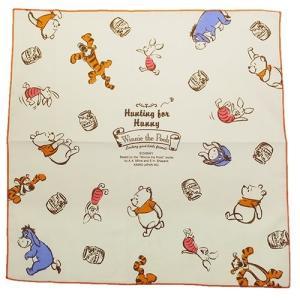 くまのプーさん ランチクロス コットンナフキン ランチーフ 63957 大判ハンカチーフ Winnie the Pooh ディズニー 日本製|ryoshindoshop