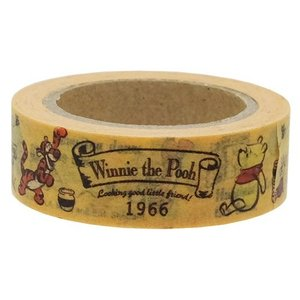くまのプーさん マスキングテープ 和紙クラフトテープ ロゴ 15mm x 5m デコテープ ディズニー 85679 Winnie the Pooh|ryoshindoshop