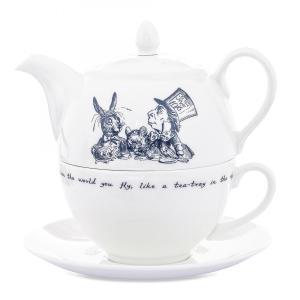 Whittard (ウィッタード)不思議の国のアリス お茶会 ティーフォーワン 英国製陶磁器 Alice in Wonderland Tea for One 一人用ポット&カップセット 輸入雑貨|ryoshindoshop