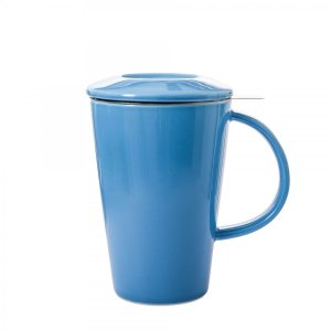 Whittard (ウィッタード)茶こし付きマグカップ ブルー Blue Pao Mug 326074 英国ブランド 輸入雑貨 イギリス ストレーナー付き インフューザーマグ|ryoshindoshop