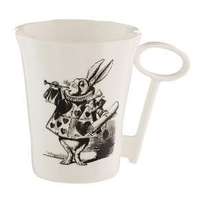 Whittard (ウィッタード)不思議の国のアリス 白うさぎ キーハンドル マグカップ Alice in Wonderland Rabbit Mug with Key Handle 317891 英国輸入雑貨|ryoshindoshop