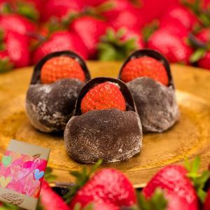 ホワイトデー  スイーツ ギフト プレゼント 和菓子 お取り寄せ 誕生日 食べ物  /  いちごショコラ大福 15ヶ 箱入 / 良平堂|ryouheido