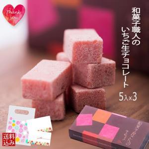 いちご生チョコレート 5ピース x3 プチギフト かわいい ...