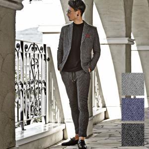 セットアップ メンズ スーツ 秋 冬 テーラードジャケット 黒 グレー M L XL ビター系 ちょいワル BITTER 送料無料|ryouhin-boueki