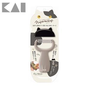 貝印 Nyammy ニャミー ぼうし型カバー付き ねこのピーラー 000DH2720 ネコ キッチンツール 皮むき器 kai 日本製|ryouhin-hyakka