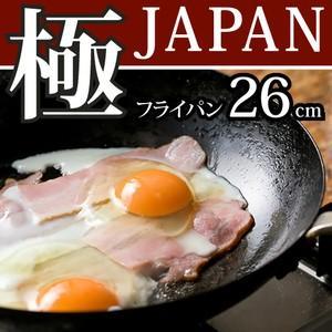 リバーライト 極 JAPAN 鉄 フライパン 26cm IH対応 日本製(送料無料)