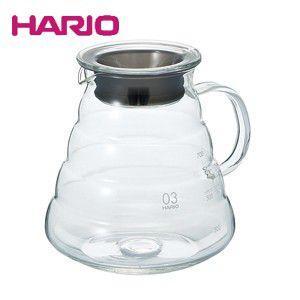 ハリオのV60レンジサーバー フタにはシリコンパッキン付きの安心設計  ■メーカー:HARIO(ハリ...
