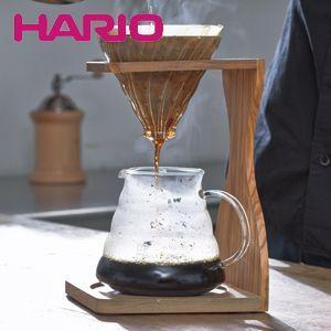 ハリオ HARIO V60オリーブウッドスタンドセット ハリオグラス VSS-1206-OV|ryouhin-hyakka