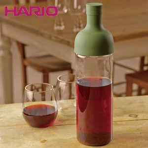 【あすつく】ハリオ HARIO フィルターインボトル オリーブグリーン ハリオグラス FIB-75-OG