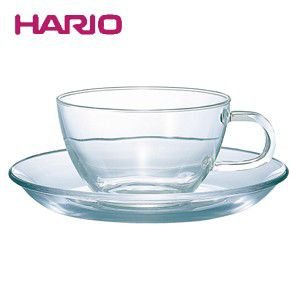ハリオ HARIO 耐熱ティーカップ&ソーサー ハリオグラス TCSN-1T