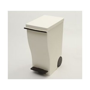 ダストボックス ゴミ箱 クード 岩谷マテリアル スリムペダル30 ブラウン KUD30-BR(送料無料)|ryouhin-hyakka
